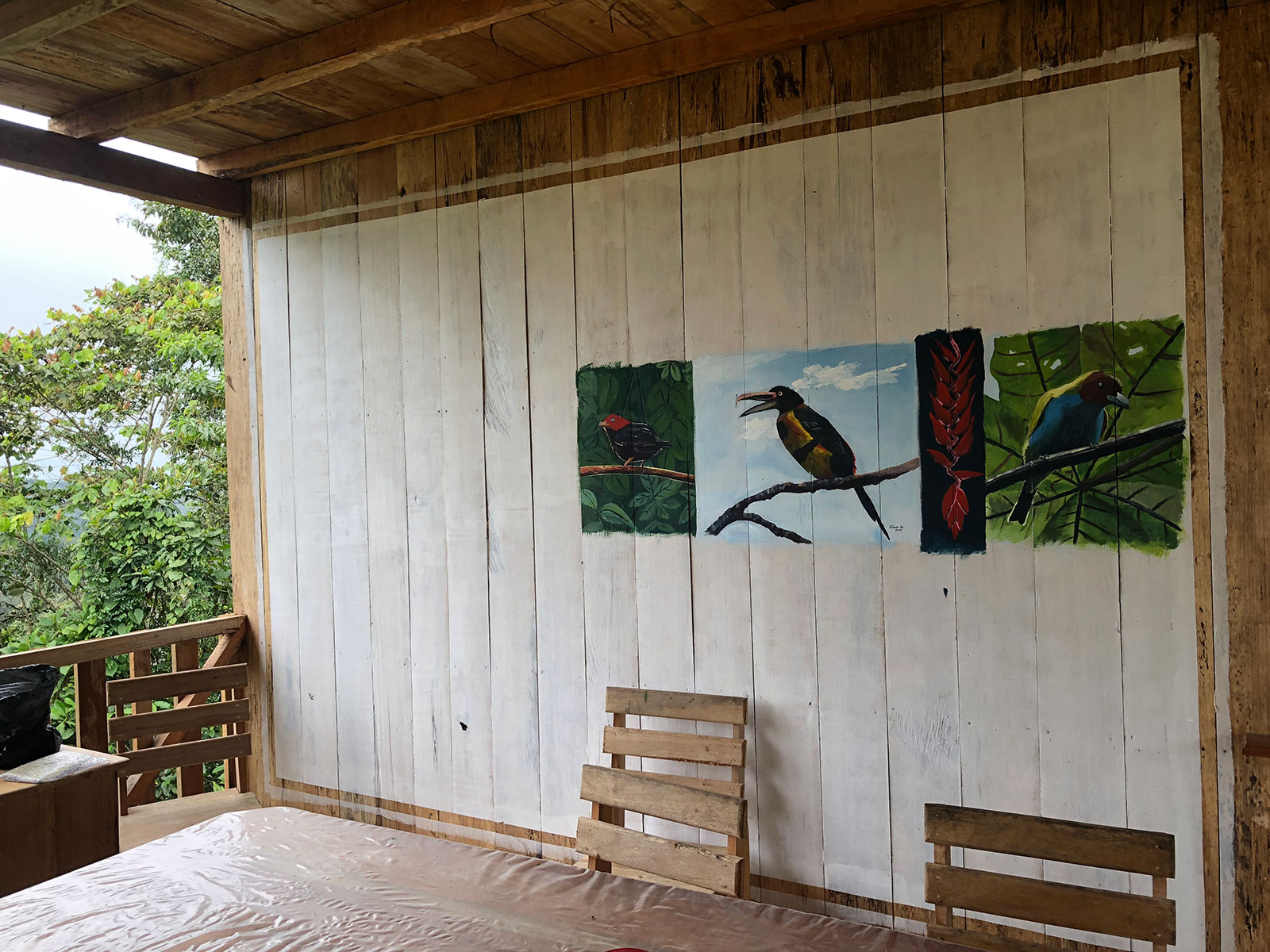 An exterior wall of the FCAT station contains a mural of local birds